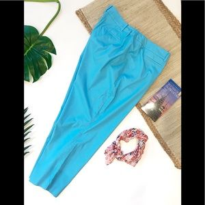 Talbots Turquoise Blue Pants Perfect Crop 20W